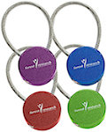 Circular Metal Key Tags